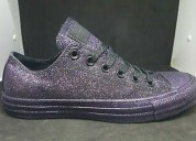Converse ct all star ox black/grape glitter women