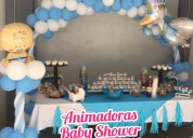 Baby shower,animadoras y mesa de dulces hermosas