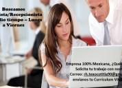 Auxiliar de oficinista/recepcionista (1/2 tiempo)