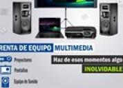 Renta equipo multimedia trc