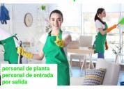 Servicios domésticos de planta
