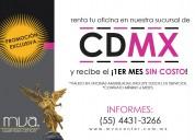 Promocion en renta de oficinas de cdmx