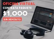 Oficina virtual para negocios visrtuales + promo
