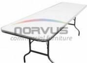 Venta de mesas resistentes y practicas para alquiler