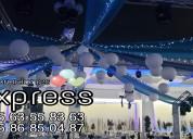 Decoraciónes con globos, centros de mesa