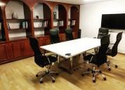 Oficinas disponibles para 1 persona amueblada/serv