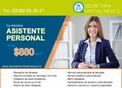 TU SECRETARIA VIRTUAL $ 580 MXN AL MES