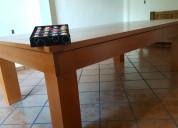 Billar convertible a mesa comedor