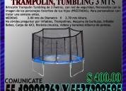 Renta juego brincolin trampolín tumbling de 3 metr