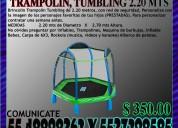 Renta juego brincolin trampolín tumbling de 2.20 m