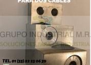Zapata tipo escalera para dos cables