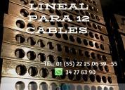 Zapata bimetalica lineal para 9 cables