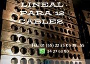 Zapata bimecanica lineal para 12 cables