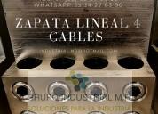 Zapata lineal para cuatro cables
