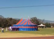 Se rentan carpas tipo circo