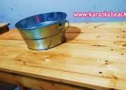 Renta de mesas madera bar vintage en monterrey