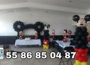 Decoracion con globos y telas