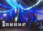 Telas, luces, globos para todo tipo de eventos