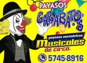 Lleva payasos profesionales de circo a tu fiesta