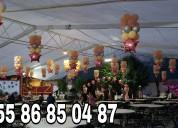 Telas, luces, globos las mejores decoraciones
