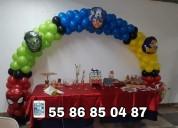 Decoraciónes con globos para fiestas infantiles, bautizos, presentaciones