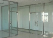 Canceleria en vidrio y aluminio glass and tech