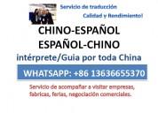 Traductor interprete de chino español en shanghai