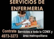 Personal de enfermeria a domicilio y en hospitales