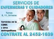 Cuidadores y enfermeras a domicilio y hospitales