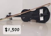 Violines nuevos en negro y nogal