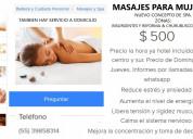 Masajes para mujeres nuevo concepto de spa
