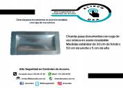 Charola pasa documentos inoxidable