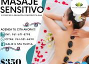 Masajes terapeuticos: sensitivo