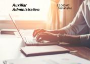 Auxiliar administrativo sin experiencia