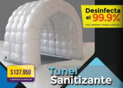 Tunel inflable sanitizante