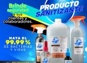 Producto sanitizante elimina virus y bacterias