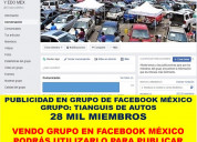 Vendo grupo de facebook audiencia 28 mil
