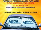 Parasoles publicitarios para auto
