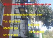 Renta y venta de andamios tlalpan 5545439822