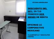 Oficinas ejecutivas en renta con buen servicio