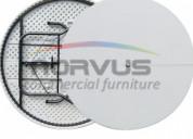 Mesas redondas de plastico plegables
