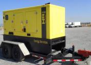 Generador sobre remolque de 2 ejes