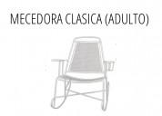 Mecedora estilo clásico color blanco en monterrey