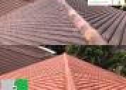 Mantenimiento d teja barro repelentes contra agua