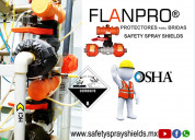 Flange spray shields for plant and personnel