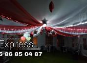 Decoraciones con globos, telas para todo tipo de eventos