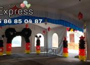 Decoraciones con globos para fiestas infantiles