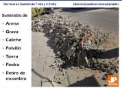 Retiro de escombro torreón, arena y grava torreón