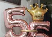 Decoracion con globos  y telas para xv aÑos