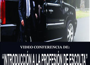 Video-conferencia de el trabajo de escolta